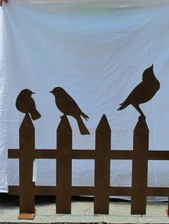 Gartenhag mit drei Vögeln gross