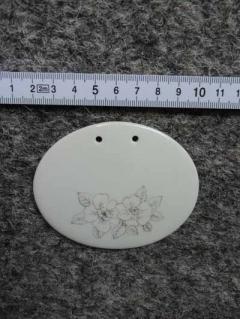 Ovales Porzellanschild zum selber Beschriften