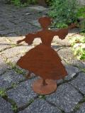Tänzerin auf Platte