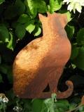 Katze sitzend zum Stecken