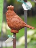 Gussvögeli mit Krone auf Stab