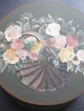 Spanschachtel rund 'Rosenkorb rosa'