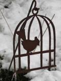 Vogelkäfig auf Stab